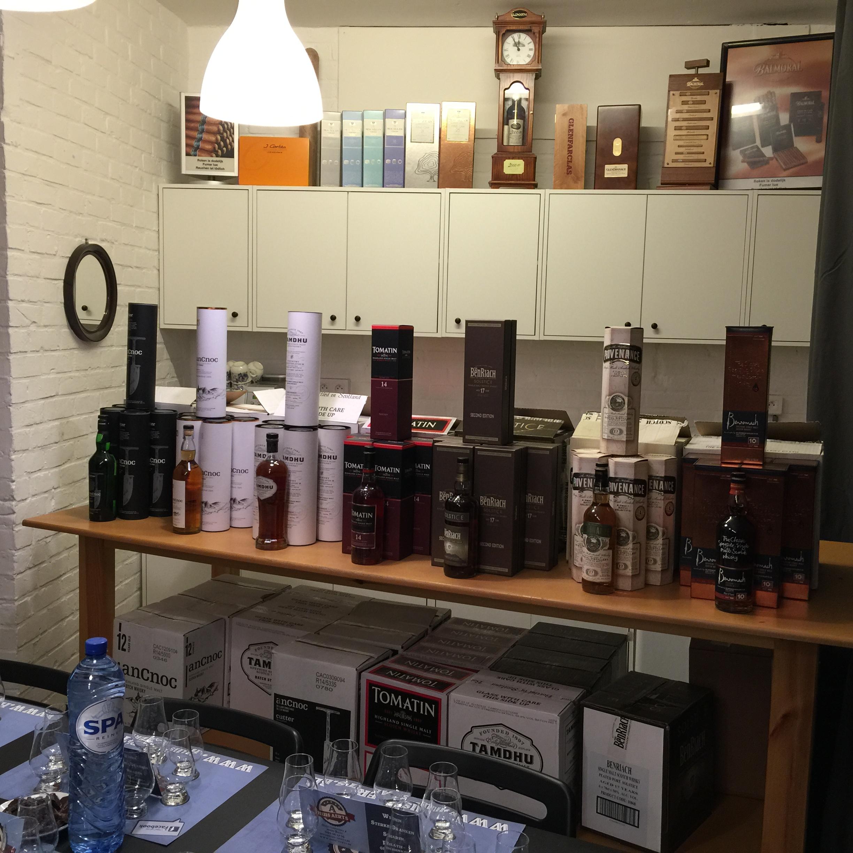 Whisky Tasting line up
